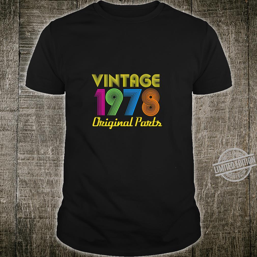Vintage 1978 40th Birthday Shirt 40 Yrs Years Old Shirt