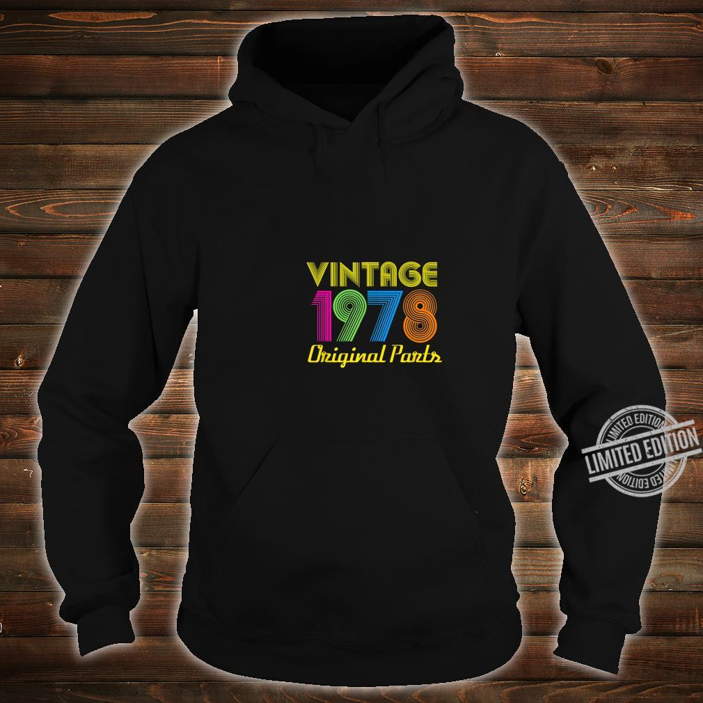 Vintage 1978 40th Birthday Shirt 40 Yrs Years Old Shirt hoodie