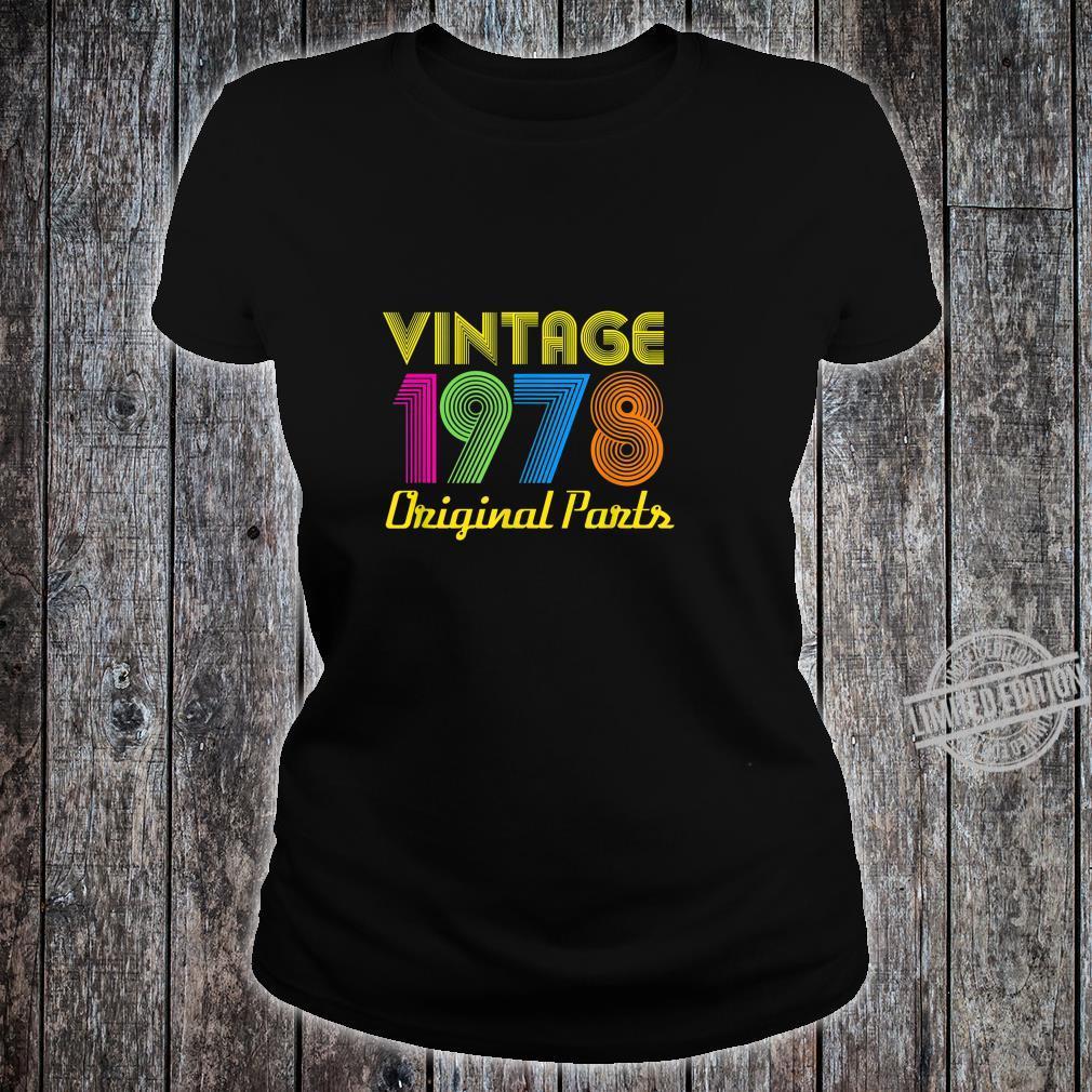 Vintage 1978 40th Birthday Shirt 40 Yrs Years Old Shirt ladies tee