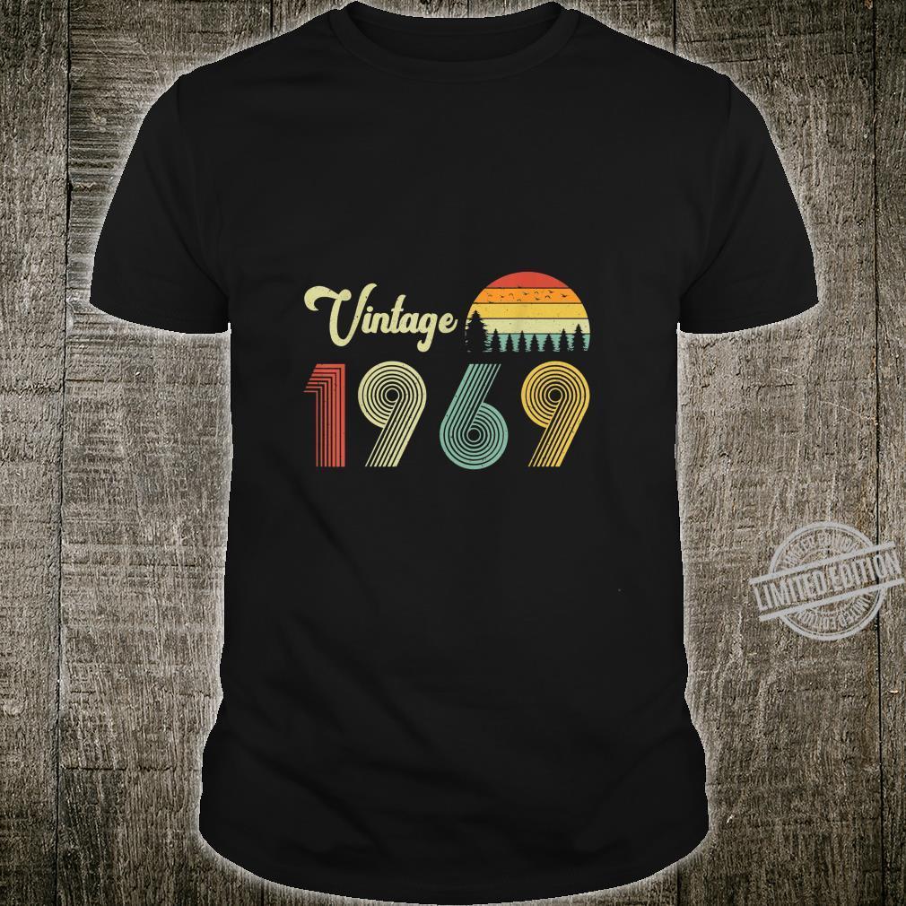Vintage Birthday 1969 Vintage 50 Birthday Shirt