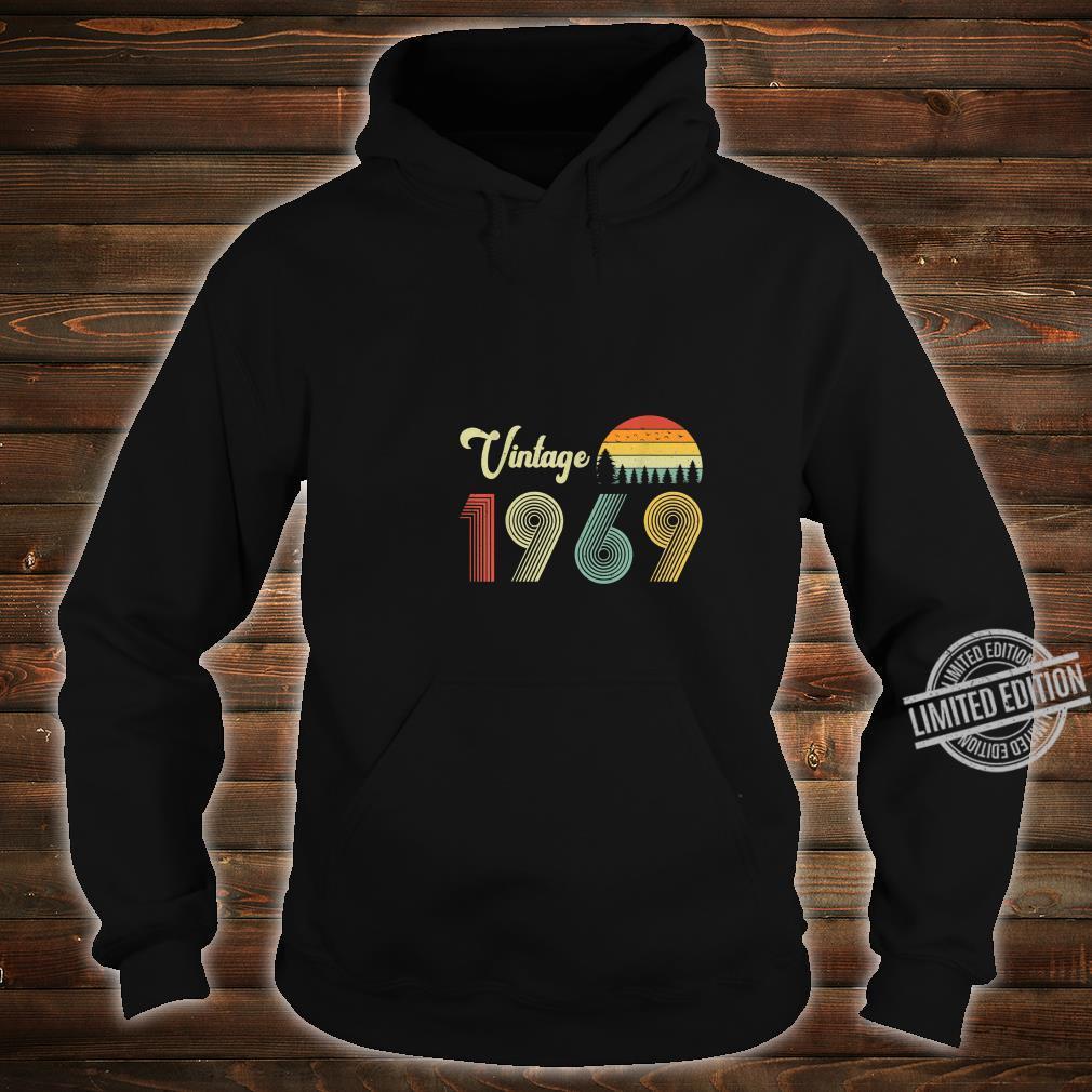 Vintage Birthday 1969 Vintage 50 Birthday Shirt hoodie