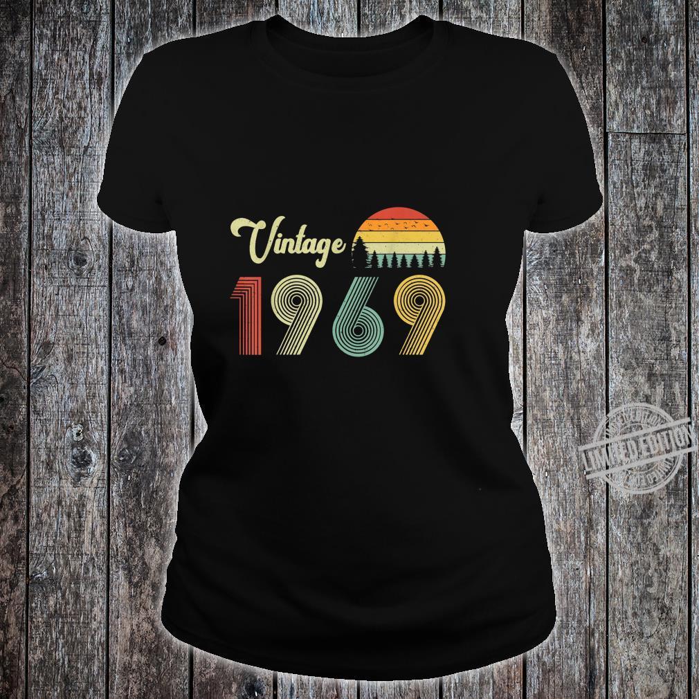 Vintage Birthday 1969 Vintage 50 Birthday Shirt ladies tee