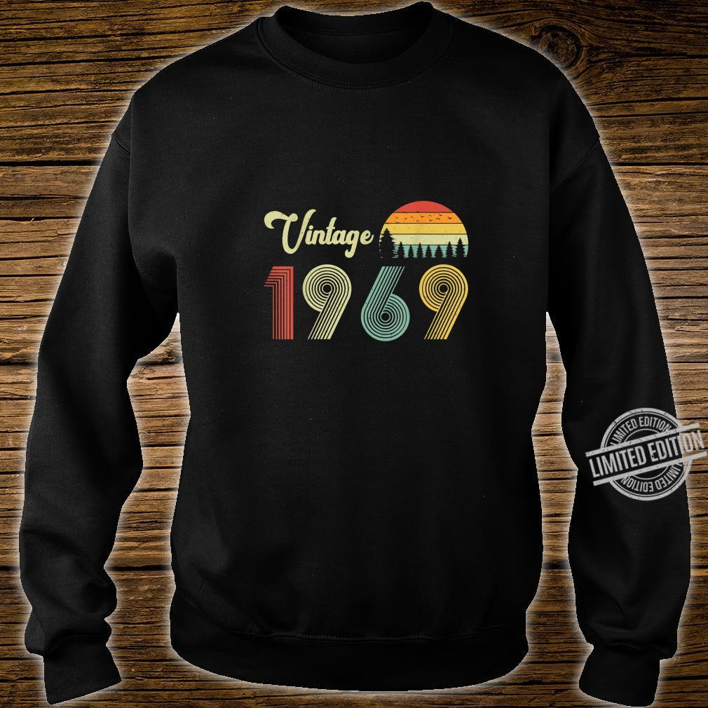 Vintage Birthday 1969 Vintage 50 Birthday Shirt sweater