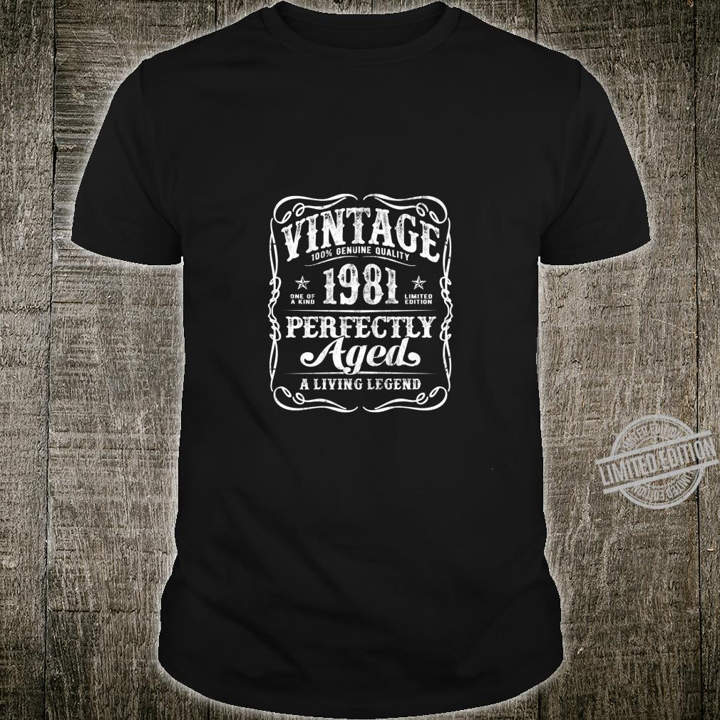 Vintage Legends Made in 1981 Classic 39th Birthday v2 Shirt
