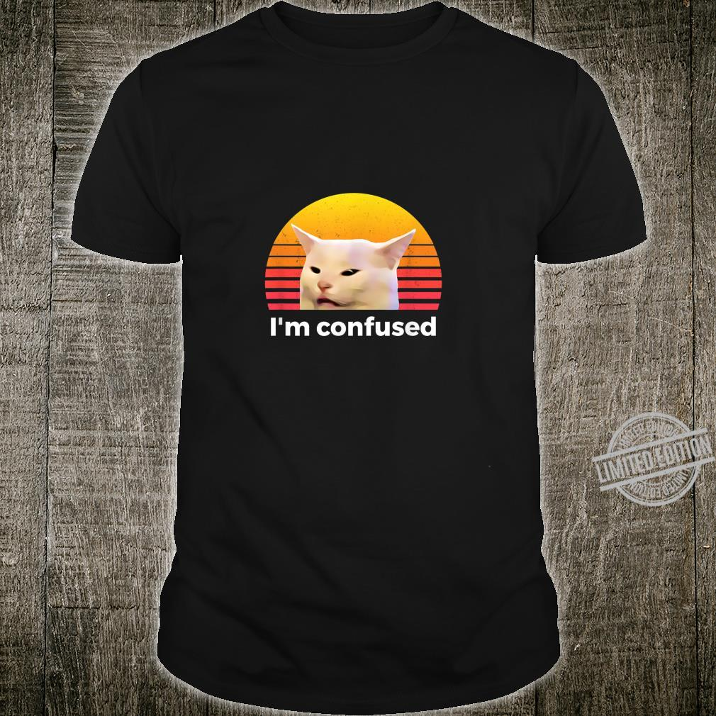 Woman Yelling At Table Dinner Cat Shirt